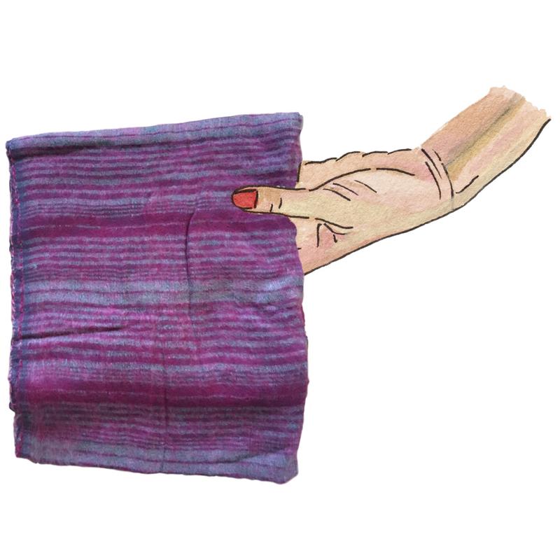 mage - yak wool scarf